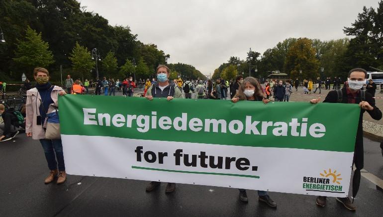 Berliner Energietisch beim Klimastreik